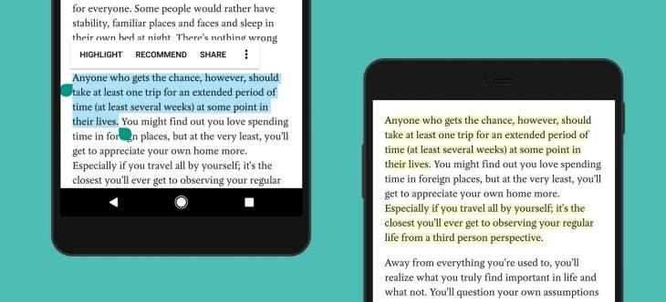 Pocket ya permite resaltar fragmentos de textos en Android