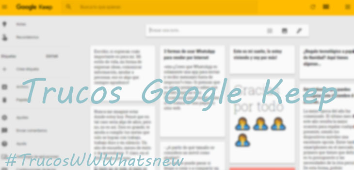 Trucos Google Keep
