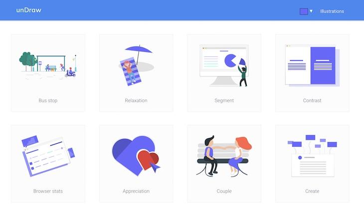 unDraw, una galería de ilustraciones gratuitas para vuestros proyectos