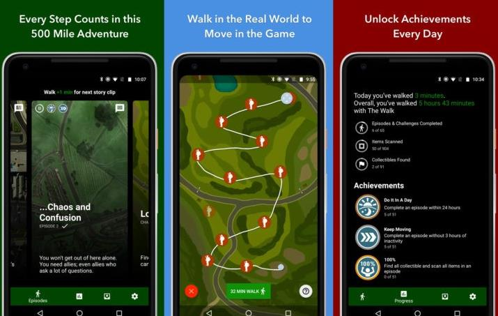 The Walk, a new mobile game that encourages us to walk