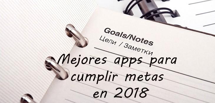 Apps para cumplir metas en 2018