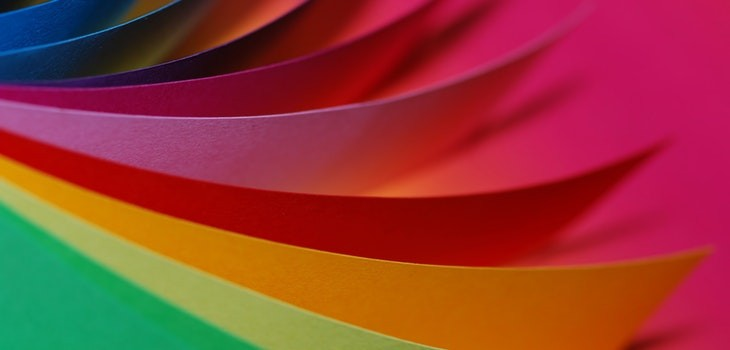 Colores brillantes sitio web