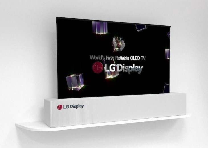 lg display presenta pantalla oled de 65 pulgadas y 4k que se puede enrollar. Black Bedroom Furniture Sets. Home Design Ideas