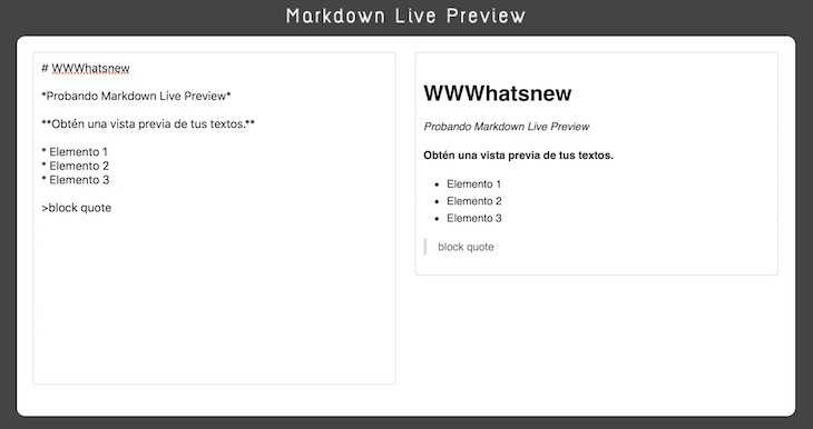 Markdown Live Preview