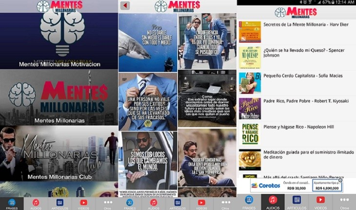 Mentes Millonarias La Mejor App Para Motivarte Con