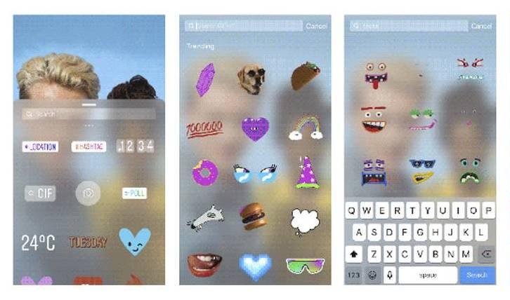Añade GIFs a tus stories de Instagram