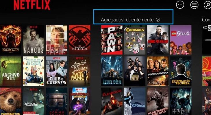 Agregados recientemente Netflix