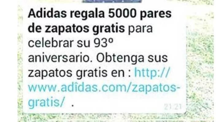 Bulo Adidas zapatillas gratis mentiras