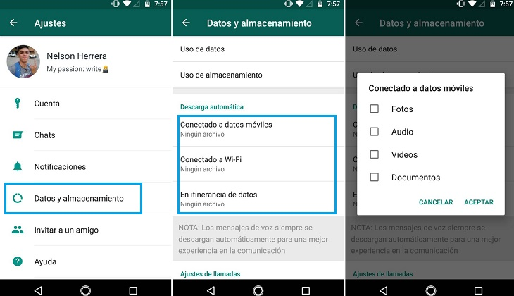 Cómo hacer que WhatsApp no descargue las fotos y demás archivos automáticamente