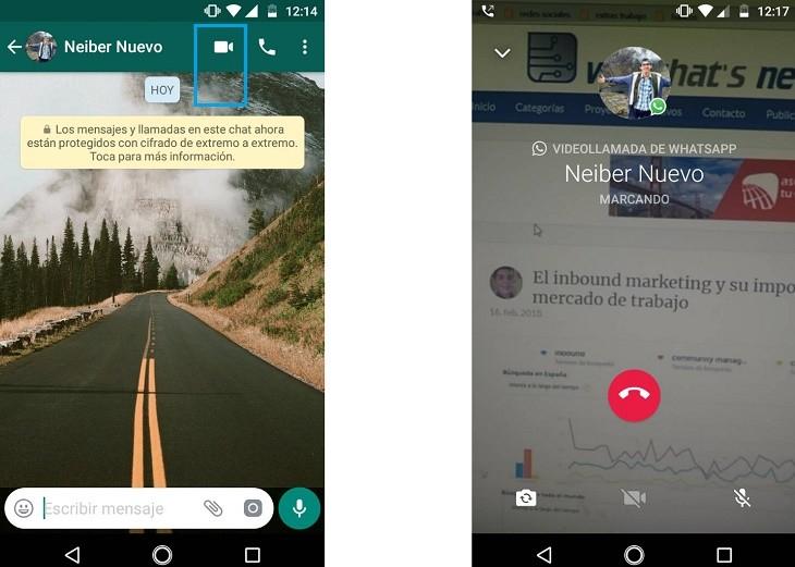 Hacer videollamadas por WhatsApp