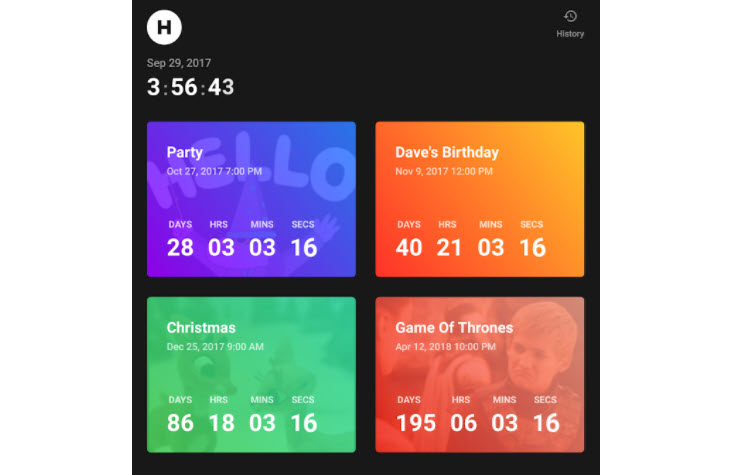 Una app para llevar la cuenta regresiva de cualquier evento
