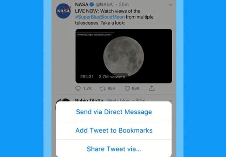 Twitter permite guardar 'tuits' para disfrutarlos más tarde