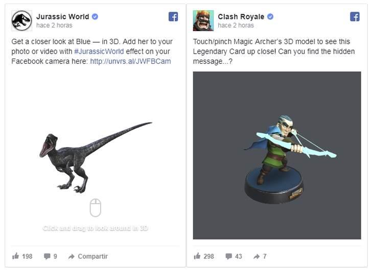 Imagen: Algunos de los nuevos modelos 3D/ Facebook