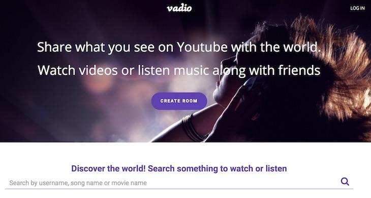 Vadio, para ver vídeos de YouTube en grupo y de forma sincronizada