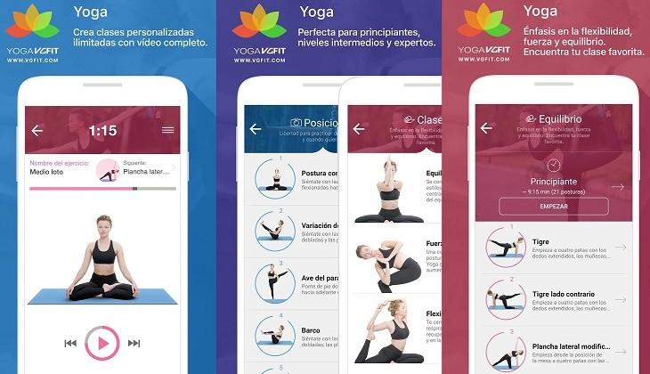 Yoga posturas y clases app
