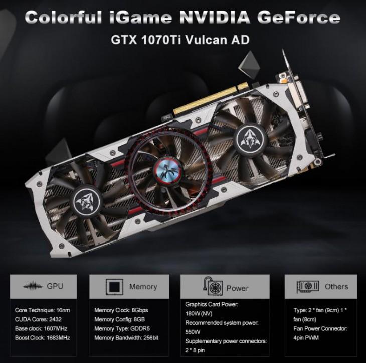 GeForce GTX 1070Ti Vulcan AD
