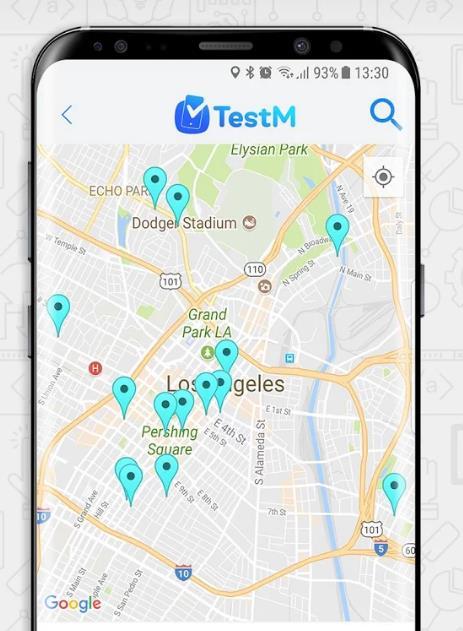 Lista de tiendas de reparación desde la app
