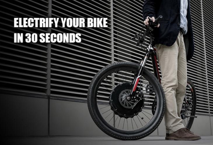 EvoWheel, una rueda para convertir cualquier bici en eléctrica