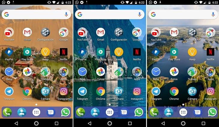 Fondos de pantalla en el smartphone prueba