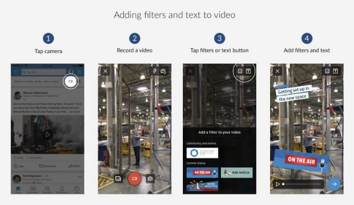 LinkedInVideo-filtrosytextos
