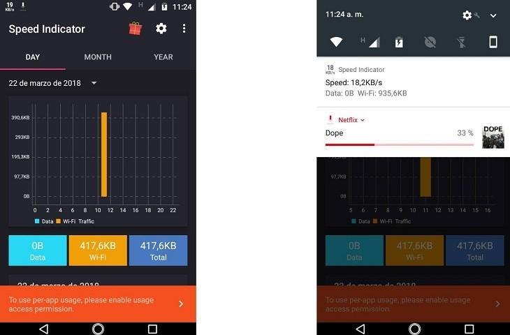Ver velocidad de internet con la app