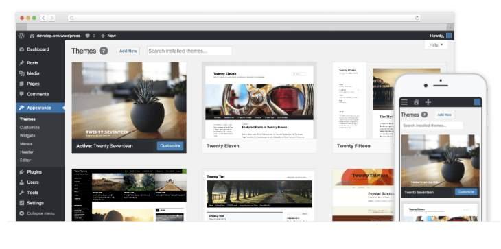 Imagen promocional de WordPress.org