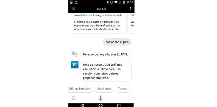 Leer noticias con Google Assistant