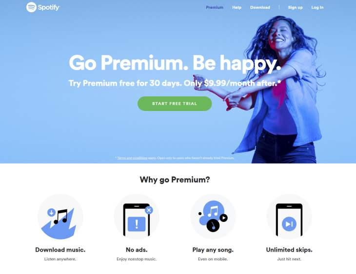 Imagen: Captura del sitio web de Spotify