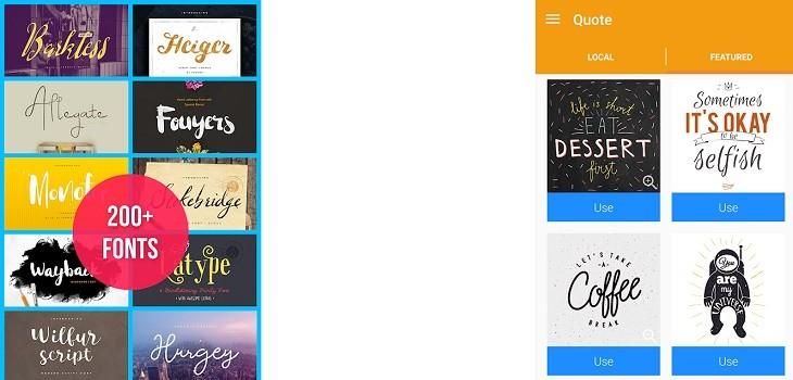 Texto en la Imagen app crear diseños en Android