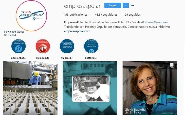 Empresas Polar Instagram