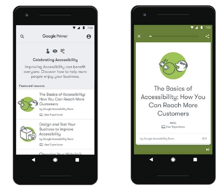 Resultado de imagen para Google lanza nuevo conjunto de recursos para ayudar a las empresas en su accesibilidad