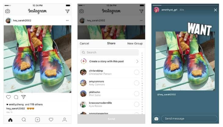 InstagramShareFeedPosttoStories