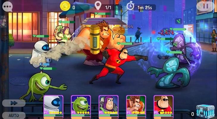 Partida Disney Heroes Battle Mode