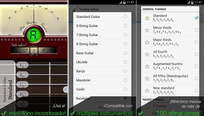 Afinador de Guitarra Pro