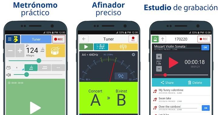 Afinador y Metrónomo app Android