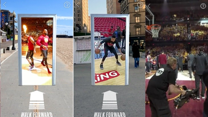 Modo portal NBA AR