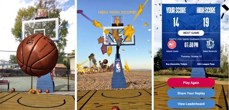 NBA AR juego de baloncesto