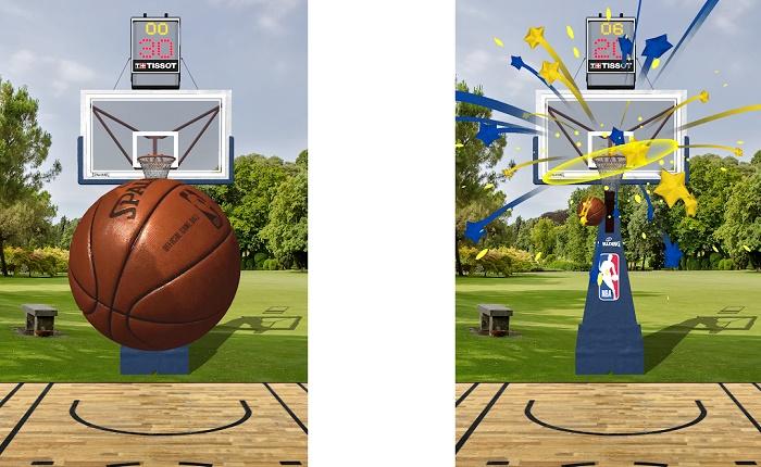 NBA AR modo lanzamiento
