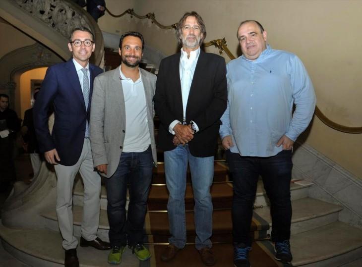 Daniel Visa, Jesús Monleón, Luis Martín Cabiedes y Carlos Blanco Vázquez