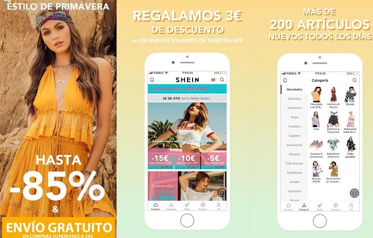 Shein app comprar ropa