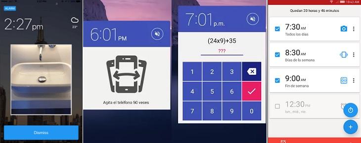 Modos de alarma de Alarmy
