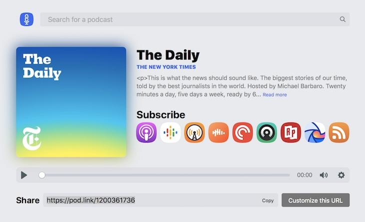 PodLink, para compartir nuestros podcasts favoritos de forma sencilla