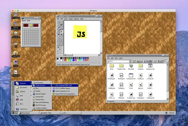 Windows95app