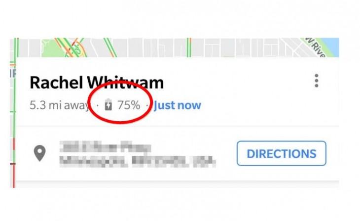 Google Maps muestra la batería restante al resto al compartir tu ubicación