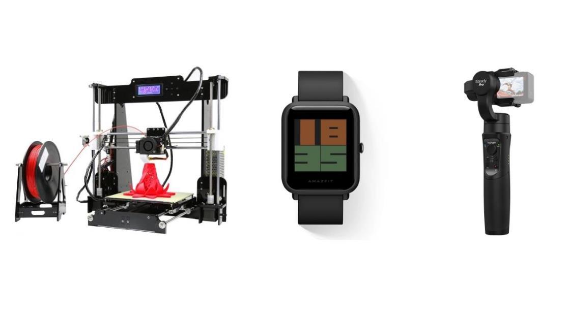Ofertas del día: una impresora 3D, un reloj inteligente y un estabilizador