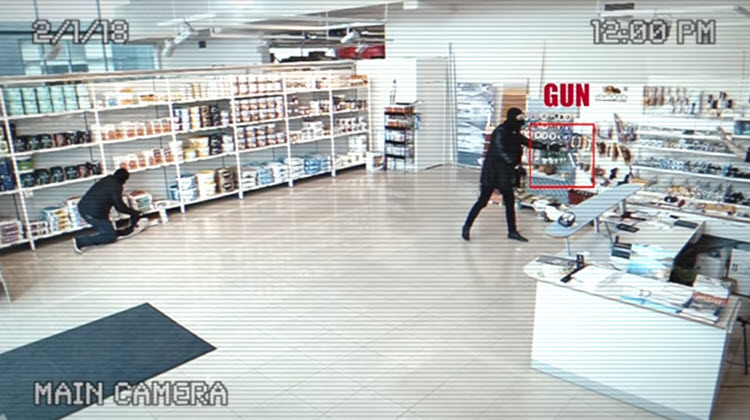 Esta cámara de seguridad utiliza IA para detectar armas