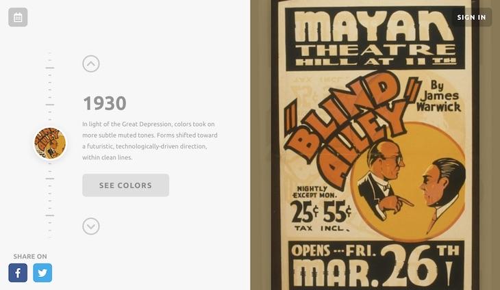 Color Leap, descubriendo las paletas de colores usadas a lo largo de la historia