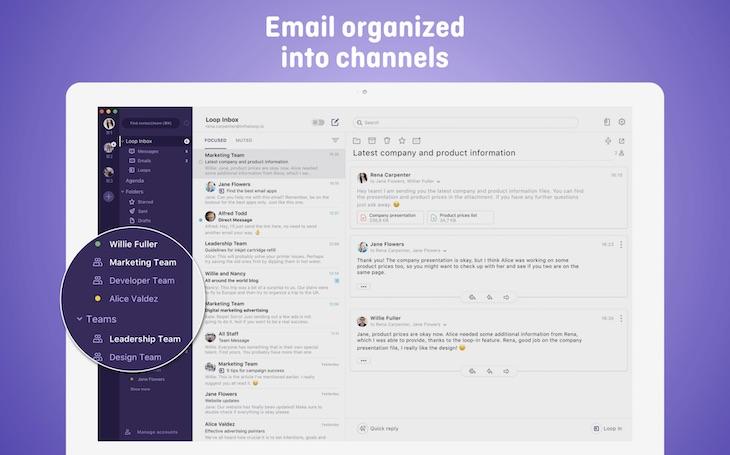 Loop Email, para organizar nuestra bandeja de entrada al más puro estilo Slack