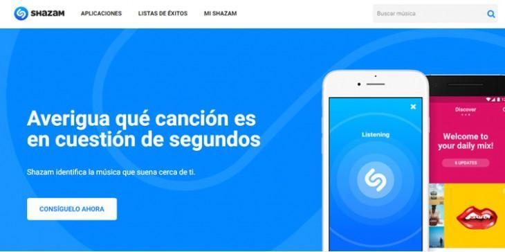 Shazam-website
