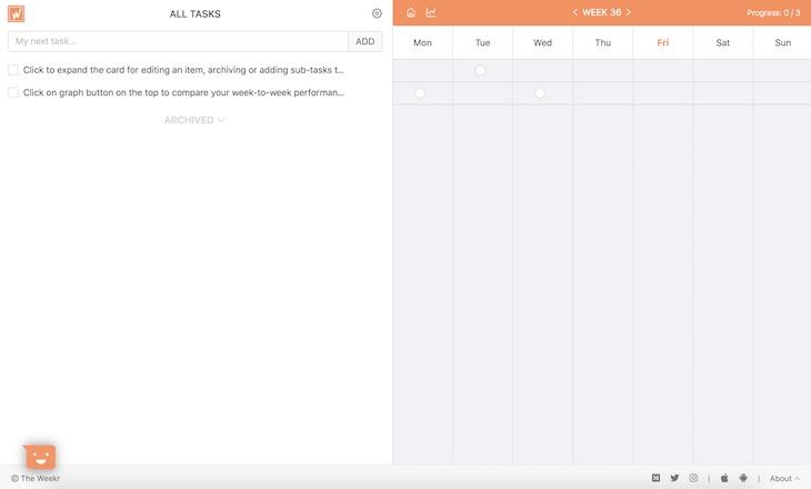 The Weekr, para organizar tus tareas y mejorar tu productividad